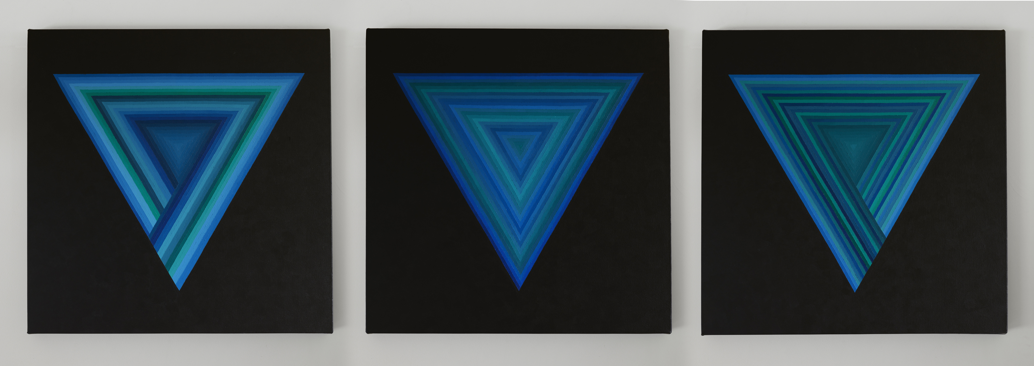 "Acrylic on Canvas 60cm x 60cm ""Thought Experiments ABC - The Interpretations of Quantum Mechanics'"